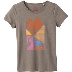 Prana Graphic Kurzarm T-Shirt Damen mud river